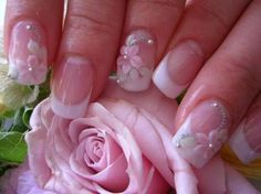 flower nails unhas decorada para noivas