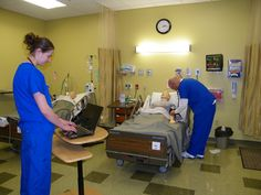 This image shows simulation with computer operated algorithms that give immediate feedback.  Simulation types include whole mannequins, specific anatomic parts, virtual, & computer-based.  Research shows positive results for student experiential learning to connect theory & didactics to real life (Alden & Durham, 2008). Reference: Durham, C.F., & Alden, K.R. (2008). Enhancing patient safety in nursing education through patient simulation. Retrieved from…