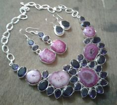 Solar quartz statement necklace