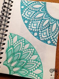 I like that there are so so many different types and styles of mandala. I'll design my own mandala for my zine. Mandalas Painting, Mandalas Drawing, Watercolor Mandala, Mandala Artwork, Doodles Zentangles, Zentangle Patterns, Patterns To Draw, Mandala Pattern, Doodle Drawings