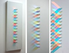 Compositions gémotriques en verre et jeux de lumières