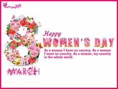 Happy Women's Day Wishes Quote Image 8 March Picture
