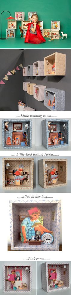 Magical, Vintage Storyboxes by Tiphaine Verdier Mangan on http://www.bellissimakids.com