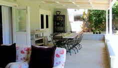 The table on the veranda.