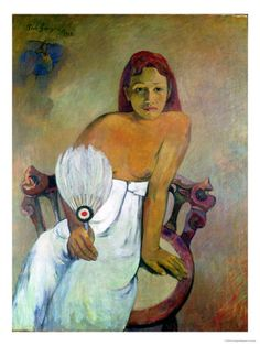 Girl with a Fan by Paul Gauguin in oil on canvas, done in Now in Folkwang Museum. Find a fine art print of this Paul Gauguin painting. Paul Gauguin, Oil On Canvas, Canvas Art, Canvas Prints, Art Prints, Large Canvas, Henri Matisse, Vincent Van Gogh, Figure Painting