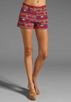 AMANDA UPRICHARD Arizona Silk Brooklyn Short in Red Arizona at Revolve Clothing - Free Shipping!