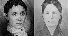 "Mary Lurancy Vennum (left) was allegedly possessed by the spirit of Mary Roff (right) in the first documented case of possession in the United States. It became known as the ""Watseka Wonder."""