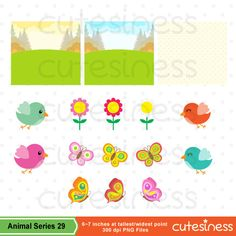 Woodland Animal Clipart Woodland Animal Digital Clipart