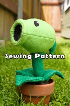 PDF DOWNLOAD Sewing Pattern Pea Shooting Plant