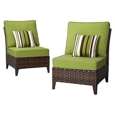 Belmont 2-Piece Brown Wicker Patio Armless Sectional Chair Set. Deal Price: $291.75. List Price: $389.00. Visit http://dealtodeals.com/belmont-piece-brown-wicker-patio-armless-sectional-chair-set/d20087/patio-lawn-garden/c87/