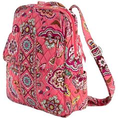 Vera Bradley Backpack in Call Me Coral ($88) ❤ liked on Polyvore