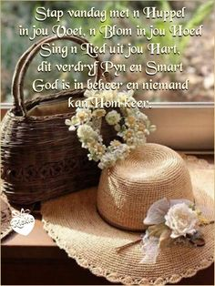 Morning Blessings, Good Morning Wishes, Good Morning Quotes, Afrikaanse Quotes, Goeie More, Bible Quotes, Reusable Tote Bags, Crochet Hats, Faith