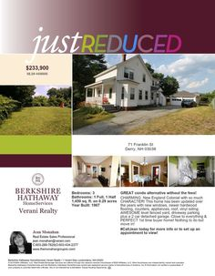 Just Reduced - 71 Franklin St, Derry, NH 03038