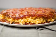 It tastes good being bad. Bacon Weave Mac and Cheese.