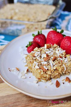 Coconut Almond Baked Oatmeal