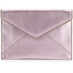Rebecca Minkoff Leo Metallic Envelope Clutch Bag ($95) ❤ liked on Polyvore featuring bags, handbags, clutches, rose gold, nude clutches, metallic envelope clutch, metallic handbags, leather purses and leather handbags