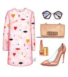 Creamy illustration was inspired by Stella McCartney dress