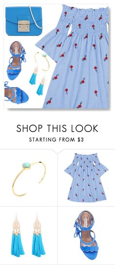 """""""Off shoulder dress"""" by simona-altobelli ❤ liked on Polyvore featuring Tabitha Simmons and Furla"""