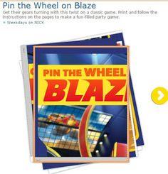 Blaze: Juego de Pónle la Llanta a Blaze para Imprimir Gratis. | Ideas y material gratis para fiestas y celebraciones Oh My Fiesta!