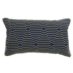 Blue/Tan Lines Decorative Pillow - Home - Home Decor - Pillows, Throws & Slipcovers - Decorative Pillows