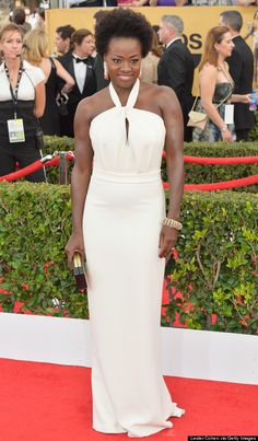 Viola Davis #SAGAwards 2015 Those arms, yeeessss! Love the dress too! #style #fashion
