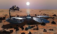 """The Beagle has landed: UK Mars lander 'found' after 11 yrs by NASA high-res images - A British-built space probe that vanished after a failed touchdown on Mars over a decade ago has been found """"intact. Mars Spacecraft, Mars Probe, Cosmos, Space Probe, Nasa Photos, Space Travel, Space Exploration, Detailed Image, Solar System"""