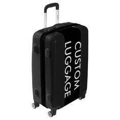 Custom Personalized MEDIUM Suitcase Luggage BLACK - diy accessories custom personalize cyo