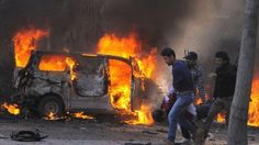 Suarapemred.com -  Sebanyak 18 orang meregang nyawa, menyusul dua ledakan  bom mobil di Kota Homs, Suriah.