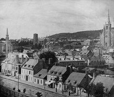 Montréal, vue de la côte du Beaver-Hall, vers 1851.