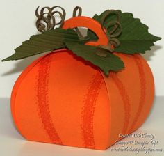 Stampin' Up! Curvy Keepsakes Box Pumpkin - Create With Christy - Christy Fulk, Stampin' Up! Demo