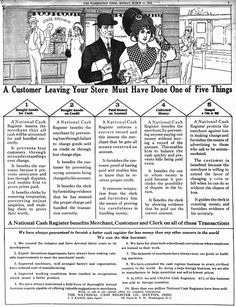 National Cash Register: Your store's customers (1912)