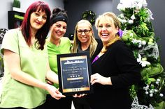 """We are proud to announce that Sanctum Salon & Spa received the """"Talk of the Town Award"""" for year of 2014 for Excellence in Customer Satisfaction!  This is a massive achievement for us and we couldn't be happier.   We would like to extend a special thank you to all our clients for your continued patronage and support!"""