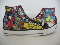 Blood on the dance floor converce $120.00 on etsy