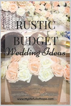 Limited on funds? And what the ever so popular trend rustic wedding or just a traditional wedding to celebrate your special day? These tips will get you going from start to finish to create the wedding of your dreams. Rustic Wedding Inspiration, Rustic Wedding Flowers, Rustic Wedding Centerpieces, Boho Wedding, Elegant Wedding, Wedding Decorations, Rustic Weddings, Wedding Fun, Green Wedding