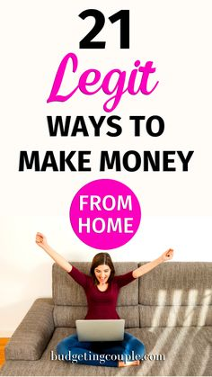 Looking to make some extra cash? Check out these 21 LEGIT ways to make money from your couch! These frugal hacks can help you make money from home every day and help you build your savings with *almost* no effort. BudgetingCouple.com Free Money Now, Money Today, Earn Money From Home, Make Money Online, Extra Money, Extra Cash, Make Easy Money, How To Make, Apps That Pay You