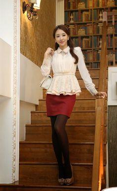 Korean fashion clothes and moda on pinterest - Modelos de faldas de moda ...
