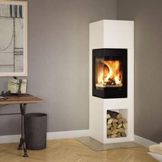 Craig saved to walletNordpeis Kaminbausatz ODENSE 6 kW Kamin Bausatz Of. Odense, New Living Room, Home And Living, Living Spaces, Fireplace Kits, Fireplace Design, Fireplaces, Wood Burner, Simple House