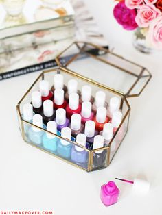 7 pretty ways to show off your nail polish collection...because your lacquers deserve to be displayed in style | From Good Housekeeping