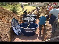 Instalação de Fossa Séptica Biodigestora na Colônia Maciel, Pelotas/RS - YouTube