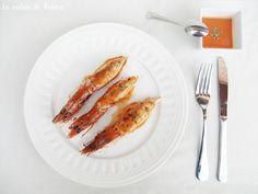 Recetas de Navidad - Entrante - Plato principal - Pescado y marisco - Calamares rellenos de gambones