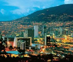 Medellin, Colombia, home Latin Travel, Law Of The Jungle, Colombia Travel, Night City, City Photography, Beautiful Landscapes, The Good Place, Travel Inspiration, Beautiful Places
