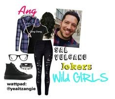 Jokers: Wild Girls [] Ang [] Sal Vulcano by yea-its-angie on Polyvore featuring polyvore fashion style WithChic Converse Bony Levy Muse clothing