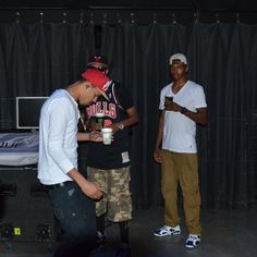 J Cole backstage during RTB 2012