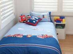 Jiggle Giggle Fire Engine Quilt Cover Kids Rooms Pinterest