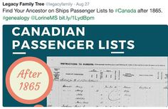 Olive Tree Genealogy Blog: Search Alternates to Ships Passenger Lists to Cana...