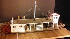 O scale Kit wood models paddle steamer.