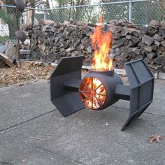 Tie Fighter grill. She's a beauty, even if it's from the Dark Side. #Regram via @finn_metalart #grilling