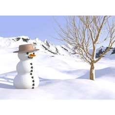 Christmas Snowman Wallpapers ❤ liked on Polyvore featuring home, home decor, snowman home decor y christmas home decor