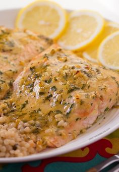 Baked Salmon with Honey Dijon and Garlic - use gluten-free Dijon mustard! | tablefortwoblog.com