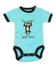 b0b9335403 Lazy One Aqua  Wild Thing  Bodysuit - Infant